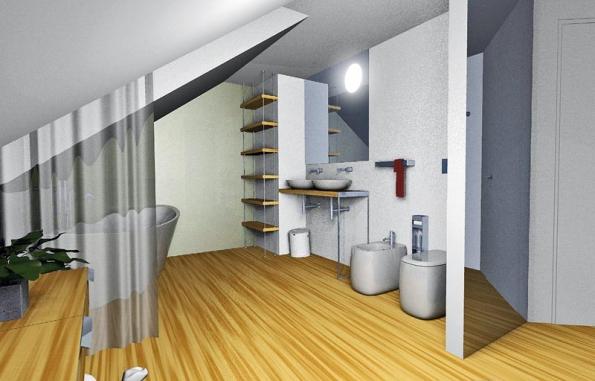 Koupelna může být vybavena variabilními sanitárními předměty zkolekce Una aMono.