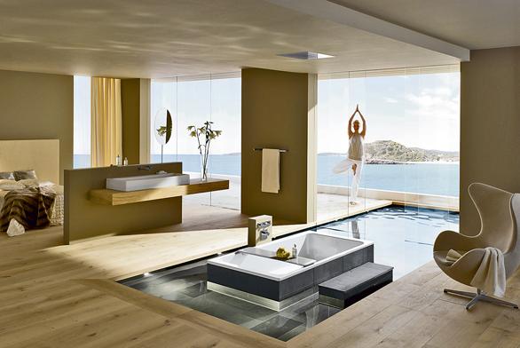 Floatování v luxusní vaně