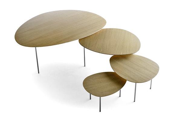 Designové stoly ve tvaru čtyřlístku
