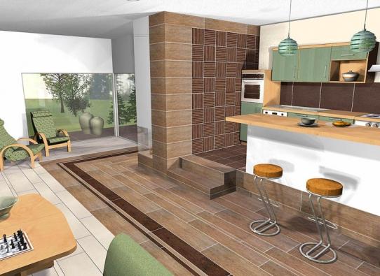 """1. varianta: Díky nejmodernějším technologiím vytváří tato napohled dřevěná podlaha iluzi """"tepla domova""""."""