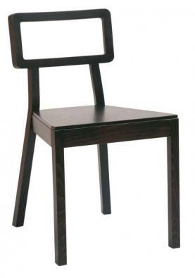 Židle 311 610 z kolekce Cordoba (design Tom Kelley), materiál buk, sedací část z překližky, odstín wengé, cena 3 550 Kč, TON.