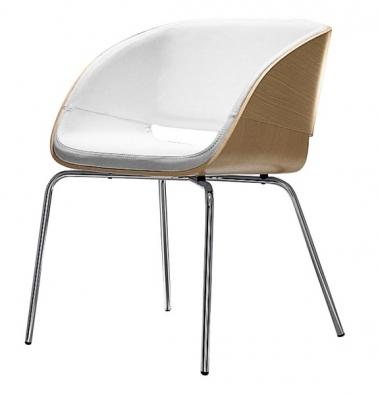 Jídelní židle D5 (Hülsta), rozměr 56 x 59 x 77 cm, materál kov, dřevo, čalounění látka nebo kůže, cena od 22 605 Kč, HOME STYLE.