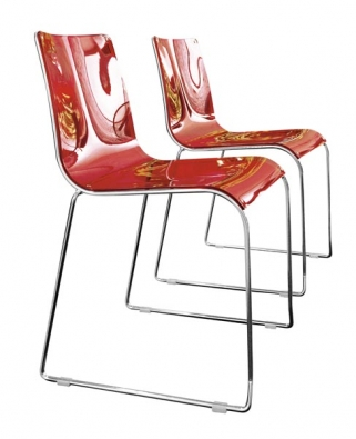 Židle Irony (Calligaris), provedení plast a chrom, cena od 4 672 Kč, CORRECT INTERIOR.