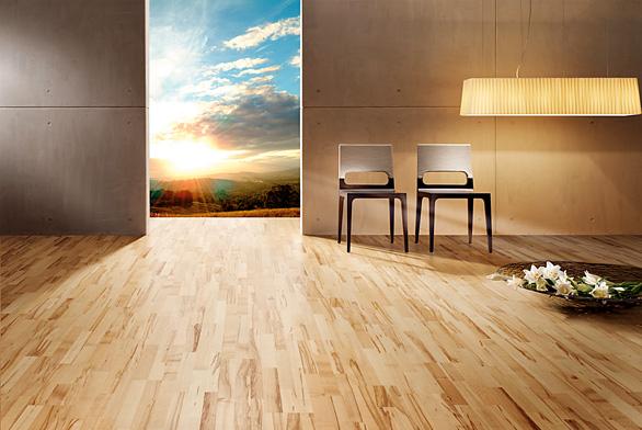 Dřevo dodá podlaze život
