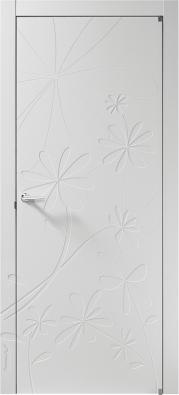 Dveře Fiorella P zkolekce Art Nouveau, materiál bílé lakované dřevo, cena navyžádání (BARAUSSE).