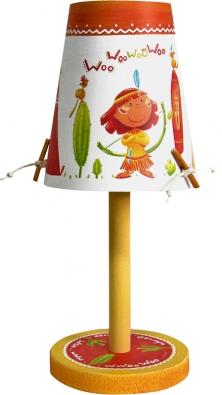 Lampička Indiens vyrobená ze dřeva atvrzeného papíru, cena 1980Kč (ABOUT KIDS).