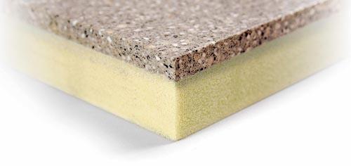 Základ sendvičového systému Technistone Light tvoří konglomerovaný kámen Technistone (tl. 10 mm) a nasucho lepená PUR podložka (20 mm). Systém je přímo předurčen k rekonstrukci bytového jádra: všechny instalace jsou vedeny v polyuretanové části, zatímco navenek vyniká esteticky dokonalý obklad koupelny (SINDAT GROUP - firma SINPOL).