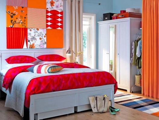 U malé ložnice budete závislí na délce stěn.