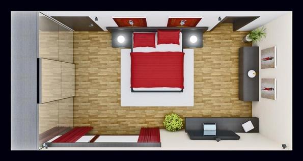 Moderní varianta ložnice