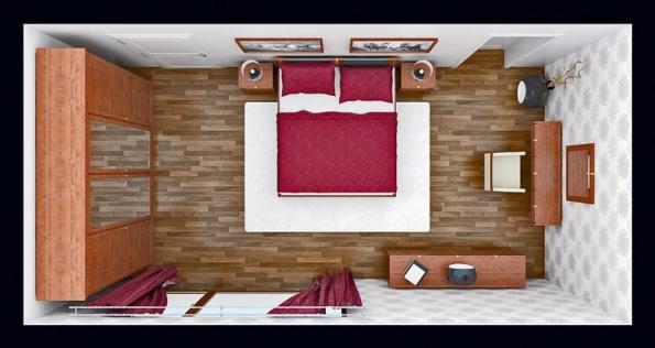 Klasická varianta ložnice