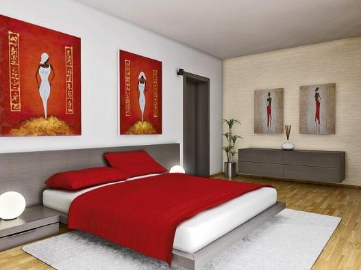 Varianta moderní: nábytek v dýze wengé od firmy Poliform doplňuje světlá reliéfní tapeta a bílý koberec s nízkým vlasem (vyrábí Limited Edition).
