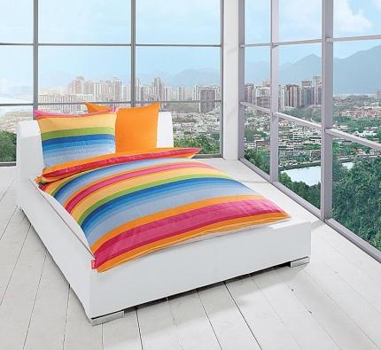 Různobarevné povlečení ze 100% bavlny pořídíte od 2 580 Kč, (vyrábí IBENA - S´OLIVER, dodává ABITARE).