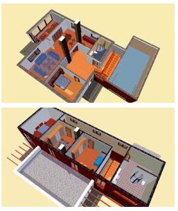 V novém patře se budou nacházet tři ložnice a koupelna se šatnou.