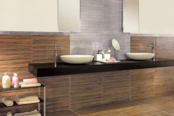 Dřevěné obložení v koupelně