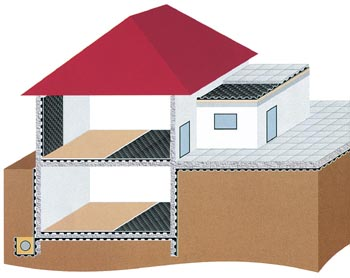 Mít sklep znamená důkladně i nákladně izolovat proti vlhkosti.Vhodné jsou např. mopové fólie.