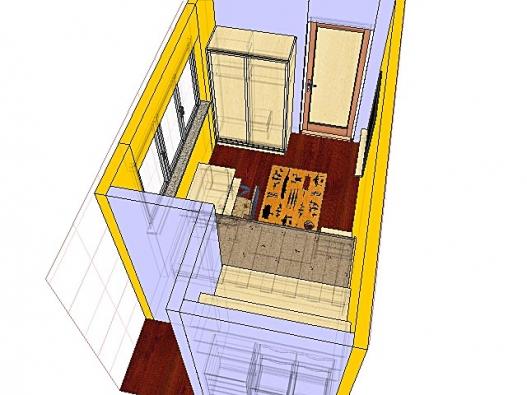 K oknu je vhodné umístit pracovní stůl, před stěnu vedle dveří se vejde šatní skříň.