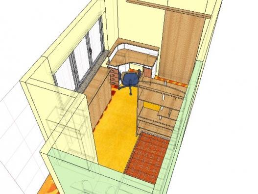 Posuvné dveře ušetří potřebné centimetry.