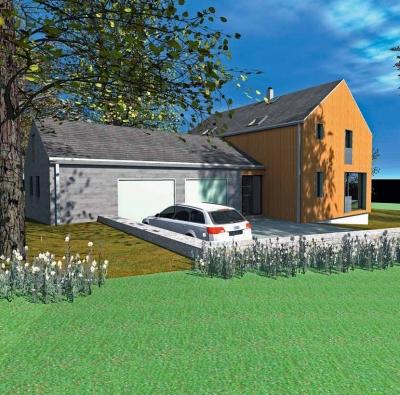Přírodní materiály tvoří tvář i samotnou podstatu domu.