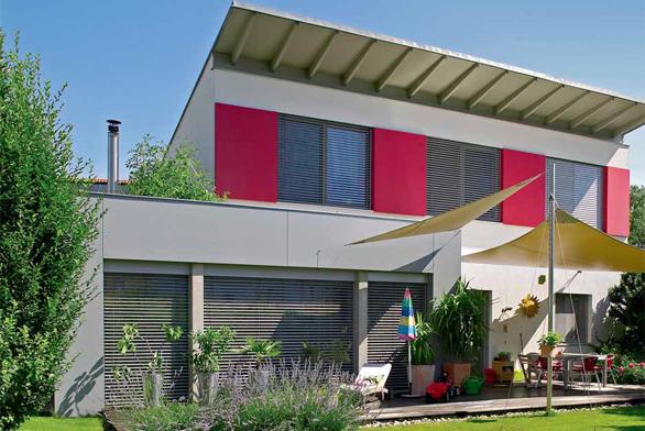 Barevné domovní fasády