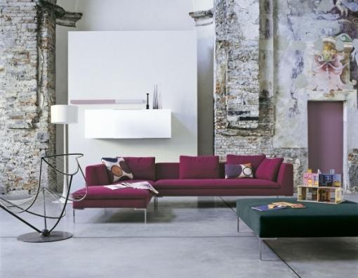 Pohovka Charles (B & B Italia), design Antonio Citterio.