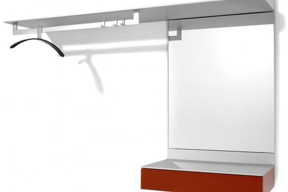 Sestava předsíňového nábytku (Schönbuch), rozměry 150 x 100 x 36 cm.