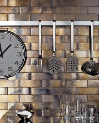 Série Maiolica (CASA DOLCE CASA), odstín oro, rozměry 5 x 15 cm, cena (bez DPH) 5 767 Kč/m², CERAMICA PLUS.