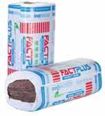 FactPlus je tvárná, tuhá a lehká minerální izolace speciálně vyvinutá pro snadné použití při aplikaci do šikmých střech, vnitřních příček a rámových konstrukcí (KNAUF INSULATION).