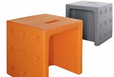 Sedátko Crossover (Calligaris), 42 × 42 × 42 cm, více barev, cena 3 136 Kč (CORRECT INTERIOR).