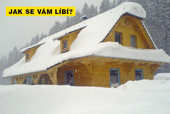PEL-MEL: Roubenka pod sněhem