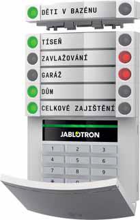 Ovládání alarmu JABLOTRON 100 je i pro nezkušeného uživatele přívětivé, protože pracuje podobně jako semafor, navíc jde o stavebnici, která se dá podle potřeby libovolně rozšiřovat.