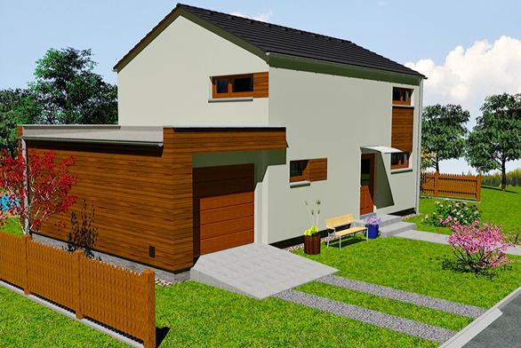KUBIS 631, verze s garáží - garáž není v základní ceně domu