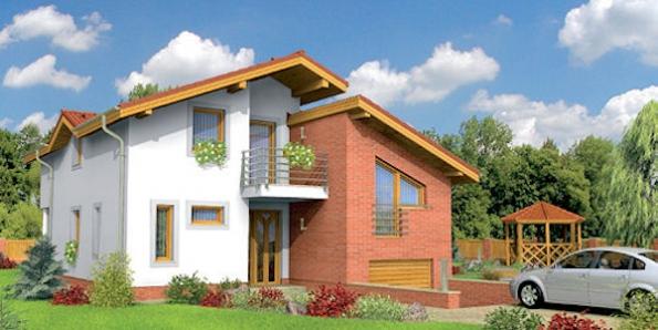 Trend 281 je dům střední velikostní kategorie, vhodný do dvoupodlažní okolní zástavby, denní část domu, nacházející se v přízemí, je řešená jako jeden velký prostor, proto je dům vhodný na rovinaté parcely s větší šířkou.