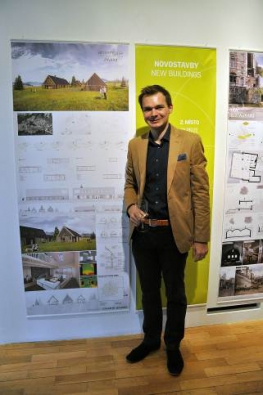 Za druhé místo vkategorii novostaveb byl za svůj projekt Country houses odměněn Juraj Kačenka spolu sEvou Bírovou zFA VUT Brno. Odnesli si finanční odměnu ve výši 20000 Kč.