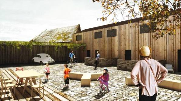 Na návrhu Norberta Obršála porota mimo jiné ocenila poloveřejný prostor společného dvora jak  z pohledu urbanistického řešení, tak jako sociální moment.