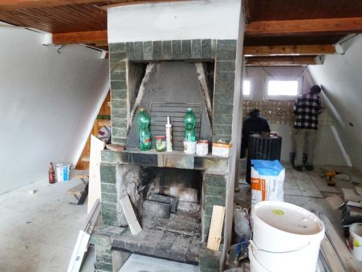 Rekonstrukce chaty - rekonstrukce přízemí