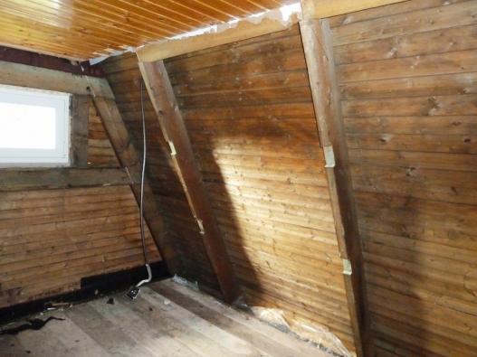 Rekonstrukce chaty - rekonstrukce stěn