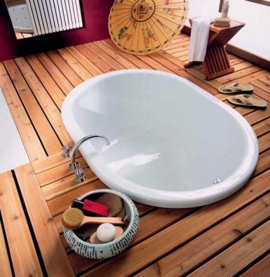 Smaltovaná vana Kutasatzu Pool, model 177, 140 x 100 x 81 cm, cena (bílé provedení) 183 060 Kč (KALDEWEI).