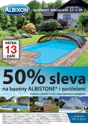 Sleva na bazény i zastřešení bazénů