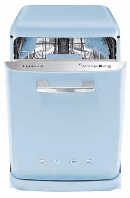 Myčka nádobí BLV2AZ-1 (SMEG), 8 barevných provedení, 13 sad nádobí, energetická třída A -20 %, spotřeba vody 10 l, hlučnost 42 dB, cena 36 990 Kč, ELETTROMEC CZ.