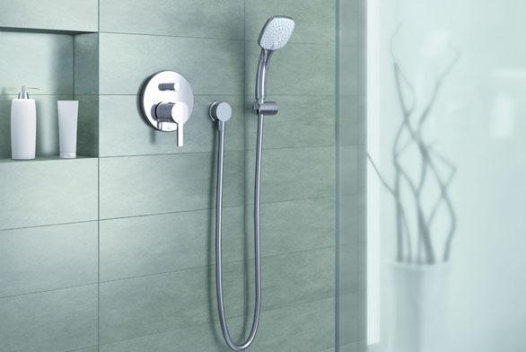 Sprchové příslušenství Idealrain Cube - hlavová a ruční sprcha