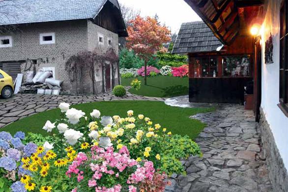 Hlavním tématem řešení je zvýšení rekreační a estetické hodnoty zahrady, ale zároveň i její praktičnosti.