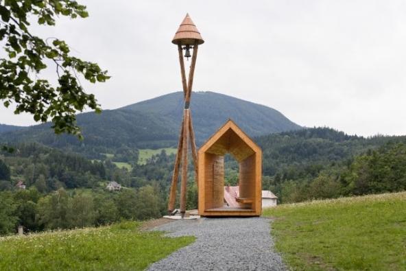 Zvonička na Horečkách, Trojanovice, realizace 2010, foto Studio Toast.