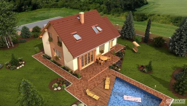 Astra Plus je dům střední velikostní kategorie vhodný pro rovinatý, popřípadě mírně svažitý pozemek. Pokoj v přízemí lze využít také jako pracovnu. Noční část domu je osazena do podkroví, garáž je s otevřeným krovem vhodná pro možné uložení věcí. Výhodou může být, že výstavbu domu lze rozdělit na dvě etapy. Dům je možné podsklepit a schodiště s podkrovím lze dostavět v druhé etapě později po zabydlení.