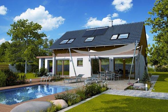 GS PASIV 6 je dům menší velikotní kategorie, který je dispozičně a architektonicky navržen v pasivním Multi-Komfortním standardu, je vhodný jako samostatně stojící v okolní jednopodlažní zástavbě a dobře zapadne na většinu pozemků. Dům má obdélníkový půdorys, dvě nadzemní podlaží, není ho však možné podsklepit pro zachování skvělých energetických hodnot. Fasáda je určená prosklenými plochami směrem na jižní stranu, vstup je orientován ze strany severní.