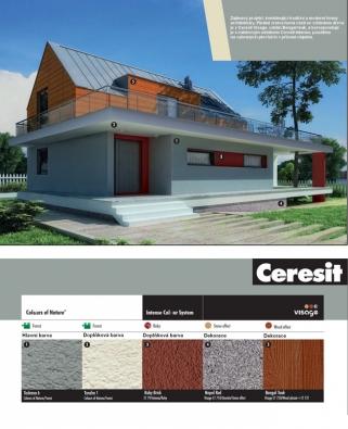 Zajímavý projekt, kombinující tradiční a moderní formy architektury. Finální vrstva horní části se vzhledem dřeva je z Ceresit Visage, odstín Bengal teak, a koresponduje je s rubínovým odstínem Ceresit Intense, použitém na vybraných plochách v přízemí objektu.