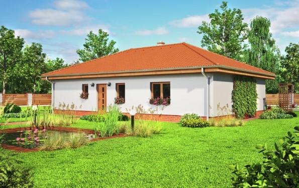 Energeticky úsporný bungalov Plutos