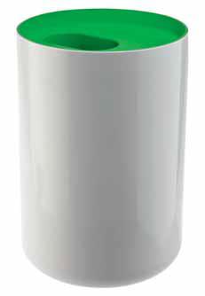 Odpadkový koš Lunar (AUTHENTICS), ABS plast, objem 6 l, Ø 19 cm, v. 28 cm, cena 770 Kč, AUTHENTICS.
