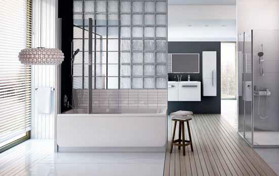 Koupelna sladěná do posledního detailu: série Chrome zn. Ravak obsahuje designově jednotou řadu van, sprch, umyvadel, baterií, koupelnového nábytku a doplňků.