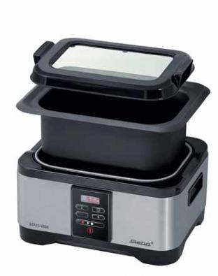 Elektrická nádoba Sous-Vide SV 1 Precise (STEBA) umožňuje přesné vaření s rozdílem maximálně 1 °C, cena 3 490 Kč, MALL.