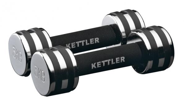 Činky (Kettler), chrom/guma, 1 kg, cena 390 Kč/2 ks www.kettler-shop.wcz.